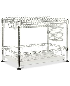 Darina Adjustable Chrome Wire Dish Rack, Quick Ship
