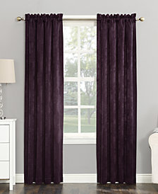 "CLOSEOUT! Sun Zero Cassidy 52"" x 95"" Textured Velvet Blackout Rod Pocket Curtain Panel"