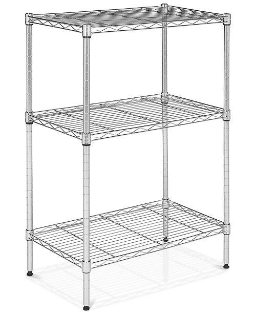 Furniture Sierra 3-Tier Mini Wire Shelves, Quick Ship