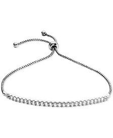 Lab-Created White Sapphire Bolo Bracelet (1-1/3 ct. t.w.) in Sterling Silver