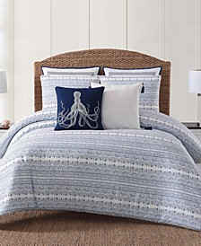 Reef Point Printed 3 Piece Full/Queen  Comforter Set