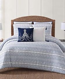 Oceanfront Resort Reef Point Printed 3 Piece King  Comforter Set