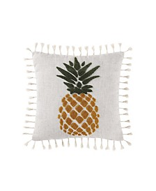 "Oceanfront Resort Sunwashed Isle 16"" Square Decorative Pillow"