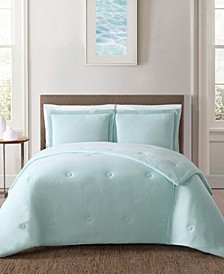 Solid Jersey Full/Queen 3 Piece Comforter Set