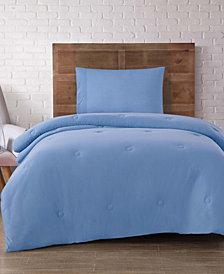 Brooklyn Loom Solid Jersey Twin XL 4 Piece Dorm Set