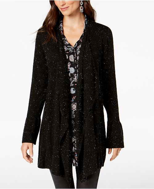 Style & Co Bell-Sleeve Draped Cardigan, Created for Macy's