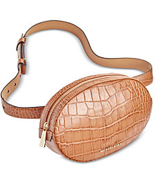 MICHAEL Michael Kors Croc-Embossed Leather Fanny Pack