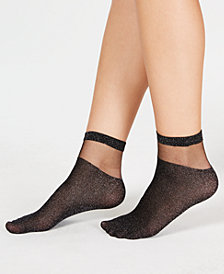 I.N.C. Sheer Fashion Ankle Socks, Created for Macy's