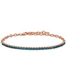 Blue Topaz (2-1/2 ct. t.w.) Bracelet in 14k Rose Gold