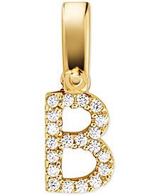 Michael Kors Women's Custom Kors 14K Gold-Plated Sterling Silver Letter Charm