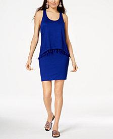 Trina Turk Popover Tassel-Trim Sheath Dress