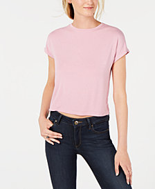 Bar III Crew-Neck Cropped Top, Created for Macy's