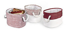 3-Pack Chevron Bins, Red