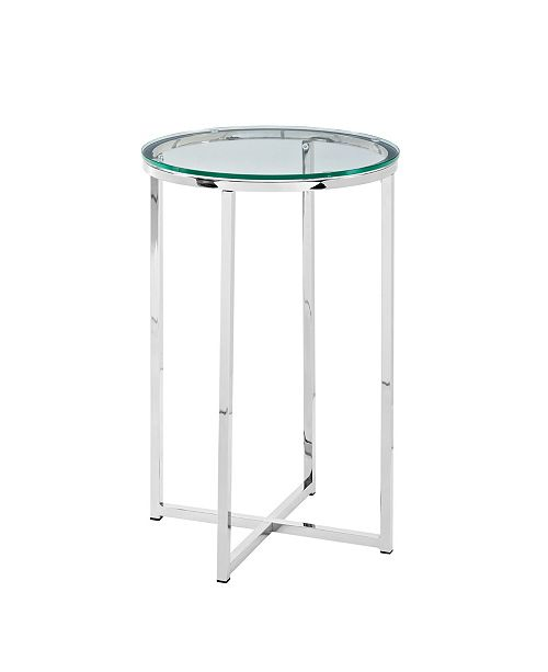 16 Round Side Table Gl Chrome