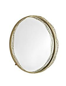 """32"""" Round Mirror with Wire Nest Frame - Gold"""