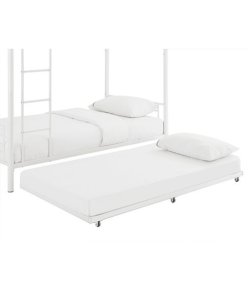 Walker Edison Twin Roll Out Trundle Bed Frame White Reviews