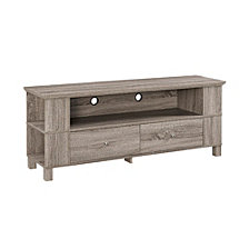 "60"" Transitional Wood TV Media Stand Storage Console - Driftwood"