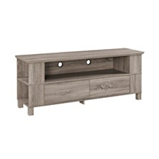 "60"" Wood TV Media Stand Storage Console - Driftwood"