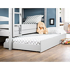 Solid Wood Twin Over Twin Bunk Bed with Trundle - Grey