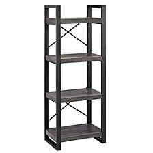 "62"" Media Storage Tower - Charcoal"