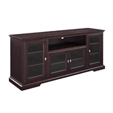 "70"" Wood Highboy TV Media Stand Storage Console - Espresso"