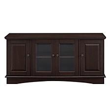 "52"" Wood TV Media Stand Storage Console - Espresso"