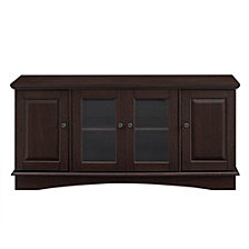 "52"" Wood TV Media Stand Storage Console - Espresso"