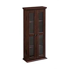 "41"" Wood Media Storage Tower Cabinet"