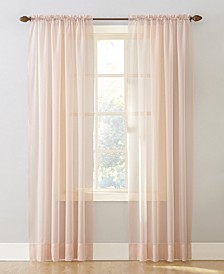 """Sheer Voile 59"""" x 84"""" Rod Pocket Top Curtain Panel"""
