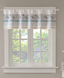 "Dawn Cotton 50"" x 18"" Printed and Pieced Rod Pocket Window Valance"