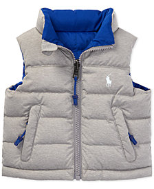 Ralph Lauren Baby Boys Reversible Quilted Vest