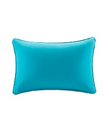 """Madison Park Pacifica 14"""" x 20"""" Solid 3M Scotchgard Outdoor Oblong Pillow"""