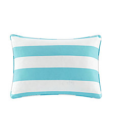 "Madison Park Percee 14"" x 20"" Printed Cabana Stripe 3M Scotchgard Outdoor Oblong Pillow"