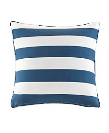 Madison Park Percee Printed Cabana Stripe 3M Scotchgard Outdoor Pillow Collection