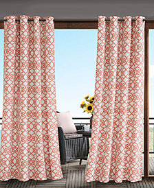 "Madison Park Daven 54"" x 108"" Grommets Printed Fretwork 3M Scotchgard Outdoor Panel"