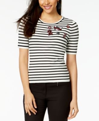 Embellished Sweater Knit Top, Created for Macy's