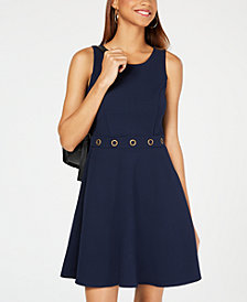 BCX Juniors' Grommet-Waist Fit & Flare Dress