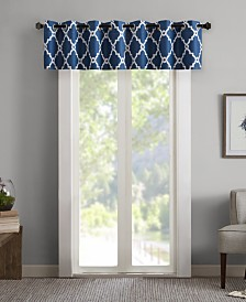 "Madison Park Merritt 50"" x 18"" Printed Grommet Window Valance"