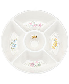 Lenox Butterfly Meadow Melamine Divided Server