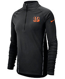 Nike Women's Cincinnati Bengals Element Core Half-Zip Pullover