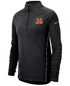 Nike Women's Cincinnati Bengals Element Core Half-Zip Pullover