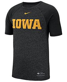 Nike Men's Iowa Hawkeyes Marled Raglan T-Shirt