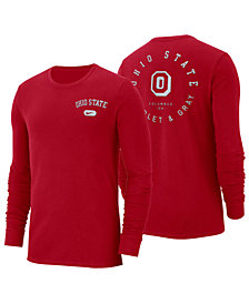 Nike Men's Ohio State Buckeyes Retro Cotton Long Sleeve T-Shirt