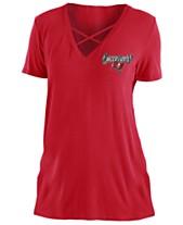 5th   Ocean Women s Tampa Bay Buccaneers Cross V T-Shirt d0f9570c5