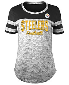 5th & Ocean Women's Pittsburgh Steelers Space Dye T-Shirt