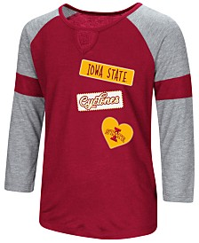 Colosseum Iowa State Cyclones All You Need Three-Quarter Sleeve T-Shirt, Girls (4-16)