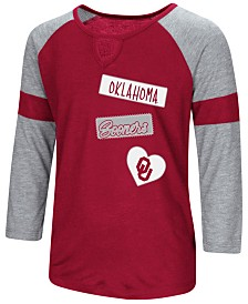 Colosseum Oklahoma Sooners All You Need Three-Quarter Sleeve T-Shirt, Girls (4-16)