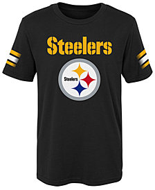 Outerstuff Pittsburgh Steelers Goal Line T-Shirt, Little Boys (4-7)
