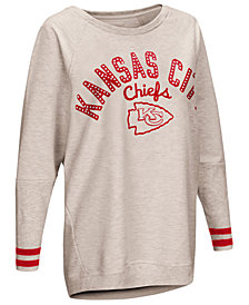 Touch by Alyssa Milano Women's Kansas City Chiefs Backfield Long Sleeve Top