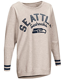 Touch by Alyssa Milano Women's Seattle Seahawks Backfield Long Sleeve Top